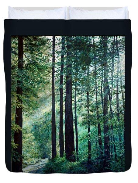Duvet Cover featuring the painting Refuge by Kathleen McDermott