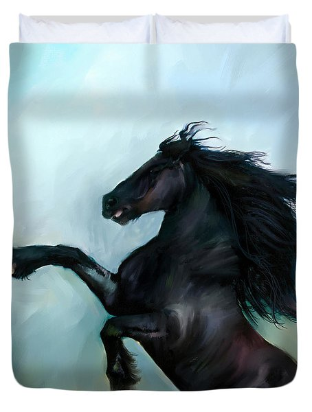Regaining Strength Duvet Cover by Tamer and Cindy Elsharouni