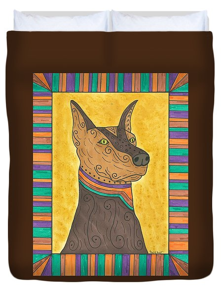Regal Doberman Duvet Cover