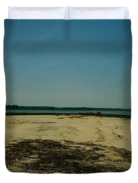 Duvet Cover featuring the photograph Rehoboth Bay Beach by Amazing Photographs AKA Christian Wilson