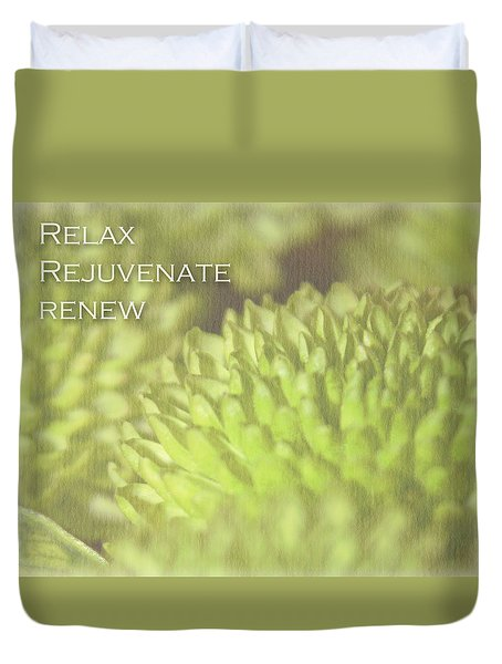 Relax Duvet Cover by Inspired Arts