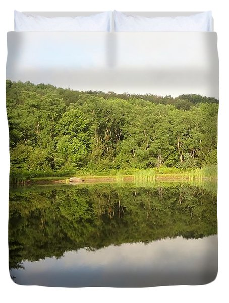 Duvet Cover featuring the photograph Relaxation by Michael Porchik