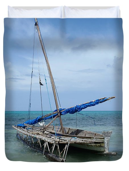 Relaxing After Sail Trip Duvet Cover by Jola Martysz