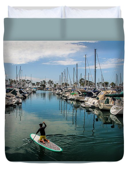 Relaxing Day Duvet Cover by Tammy Espino