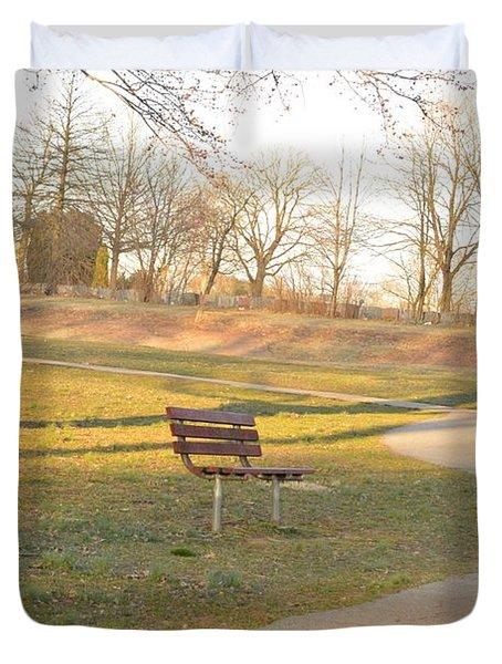 Relaxing  Evening Duvet Cover by Sonali Gangane