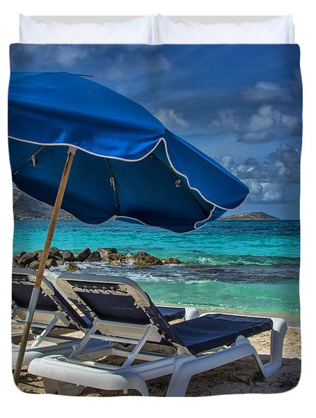 Relaxing In St Maarten Duvet Cover