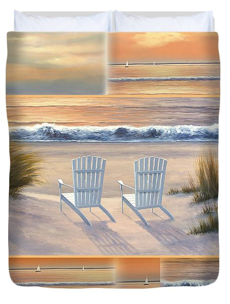 Relocated - Paradise Sunset Duvet Cover
