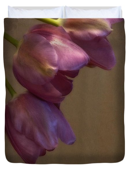Duvet Cover featuring the photograph Remaining Glory by Lucinda Walter
