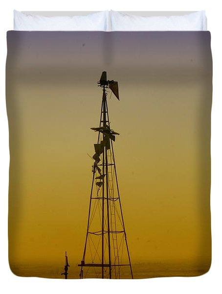 Remains Of An Old Windmill  Duvet Cover by Jeff Swan