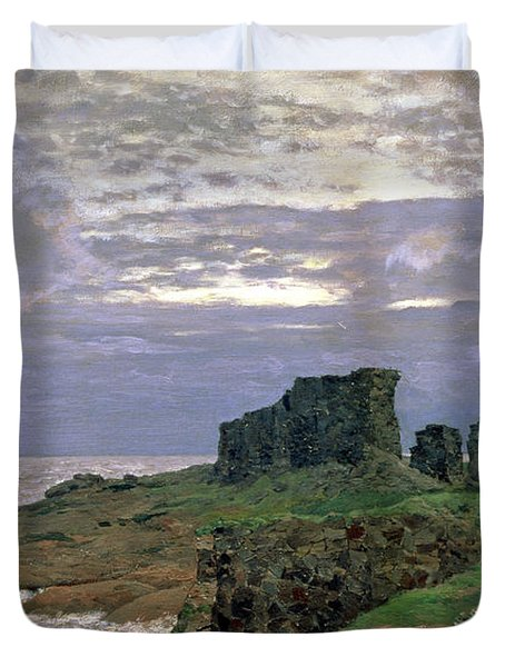Remains Of Bygone Days Duvet Cover by Isaak Ilyich Levitan
