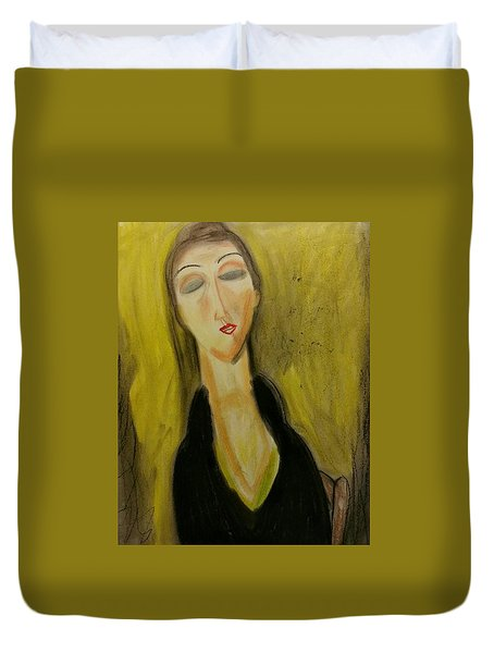 Sophisticated Lady With The Dreamy Eyes Duvet Cover