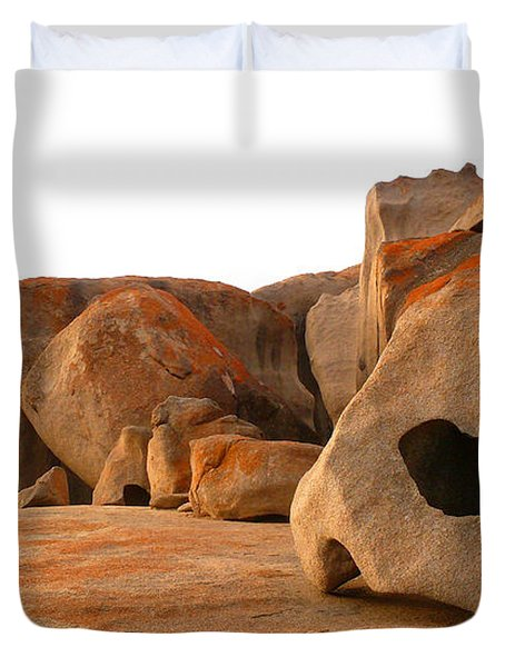 Remarkable Rocks Duvet Cover by Evelyn Tambour