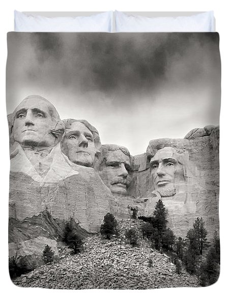 Remarkable Rushmore Duvet Cover by Erika Weber