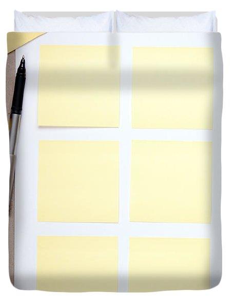 Reminder Notes Duvet Cover by Tim Hester