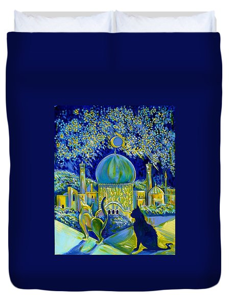 Reminiscences Of Asia. Bed Time Story Duvet Cover
