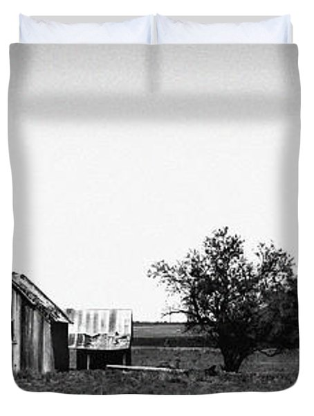 Remnants Of The Dust Bowl Duvet Cover by Lon Casler Bixby