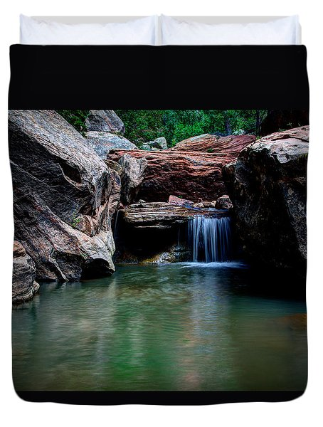 Remote Falls Duvet Cover by Chad Dutson