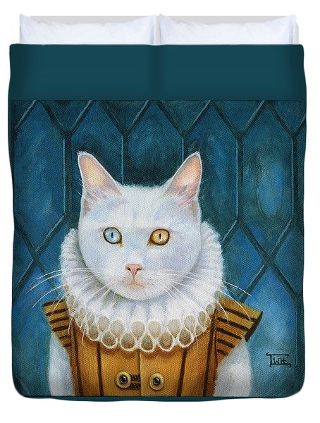 Renaissance Cat Duvet Cover