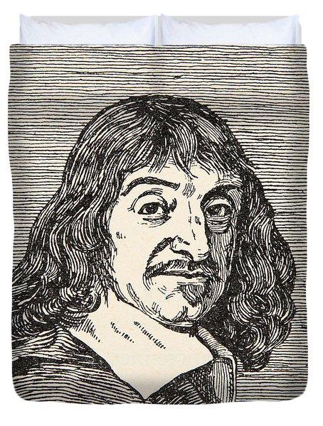 Rene Descartes Duvet Cover