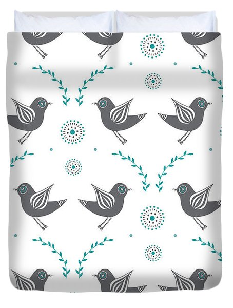 Repeat Lovebird Duvet Cover by Susan Claire