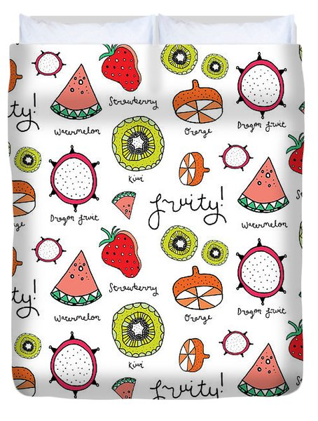 Repeat Print - Fruits Duvet Cover