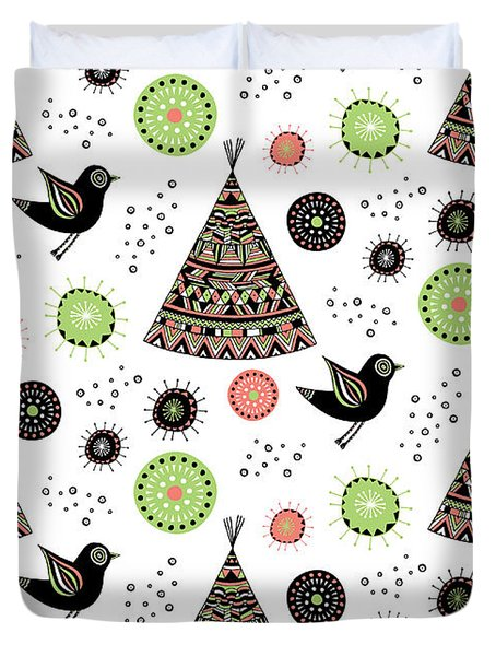 Repeat Print - Wild Night Duvet Cover