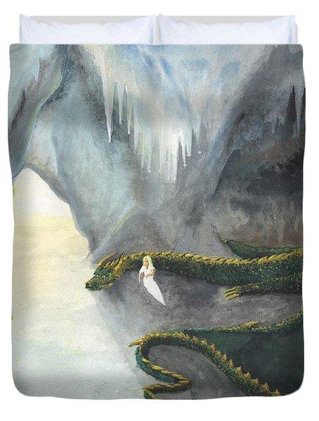 Repos Avec Un Dragon Duvet Cover