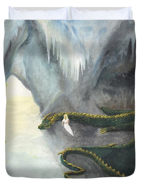 Repos Avec Un Dragon Duvet Cover