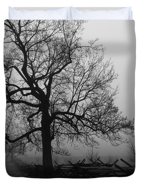 Repose In Mist Duvet Cover by David Rucker