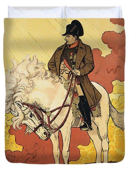 Vintage Poster Depicting Napoleon Duvet Cover