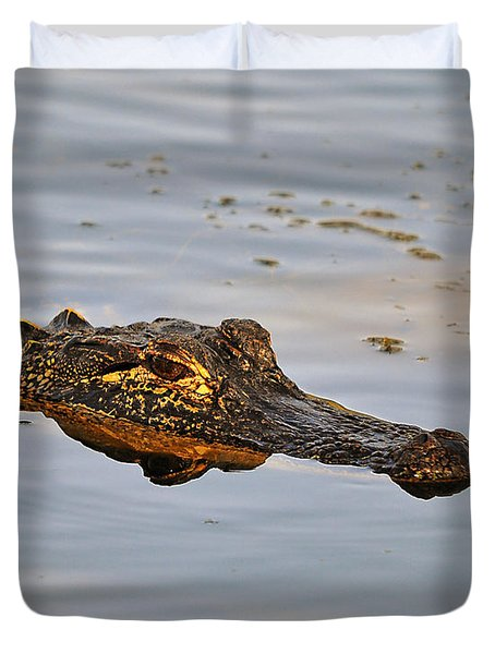 Reptile Reflection Duvet Cover by Al Powell Photography USA