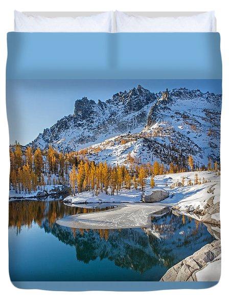 Resplendent Alpine Autumn Duvet Cover by Mike Reid