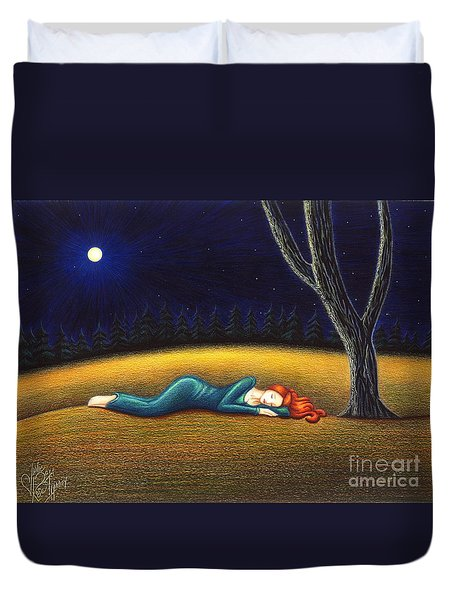Rest For A Weary Heart Duvet Cover