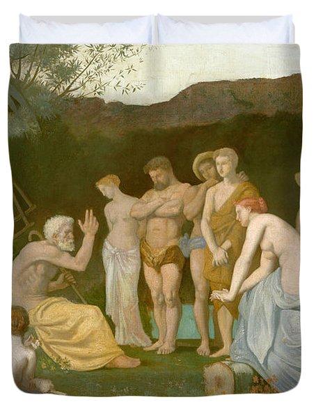 Rest Duvet Cover by Pierre Puvis de Chavannes