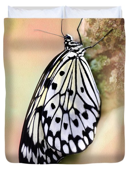 Restful Butterfly Duvet Cover by Sabrina L Ryan