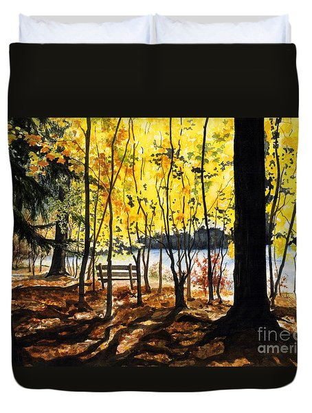 Resting Place Duvet Cover by Barbara Jewell