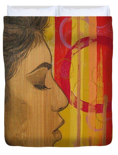 Restless In Wonderment 3 Duvet Cover by Malinda  Prudhomme