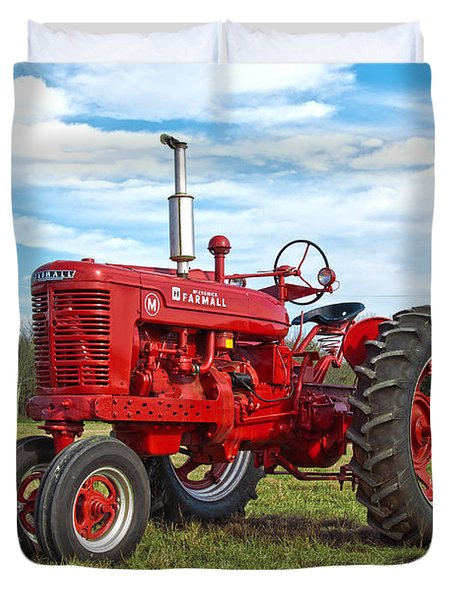 Restored Farmall Tractor Duvet Cover