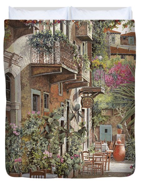 Rethimnon-crete-greece Duvet Cover by Guido Borelli