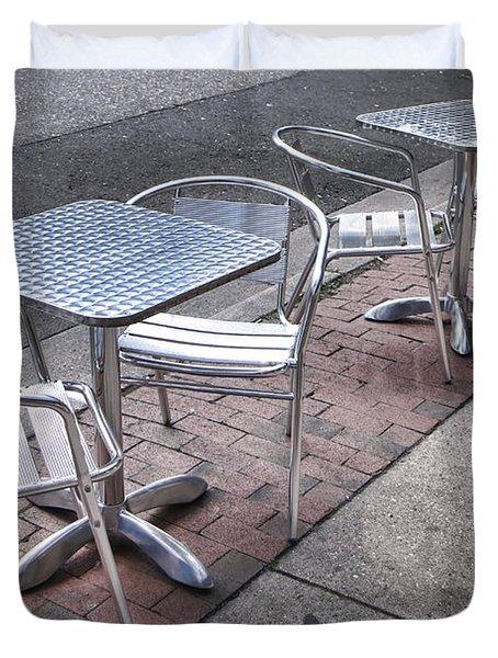 Retro Cafe Duvet Cover