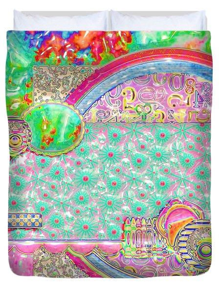 Retro Duvet Cover by Liane Wright