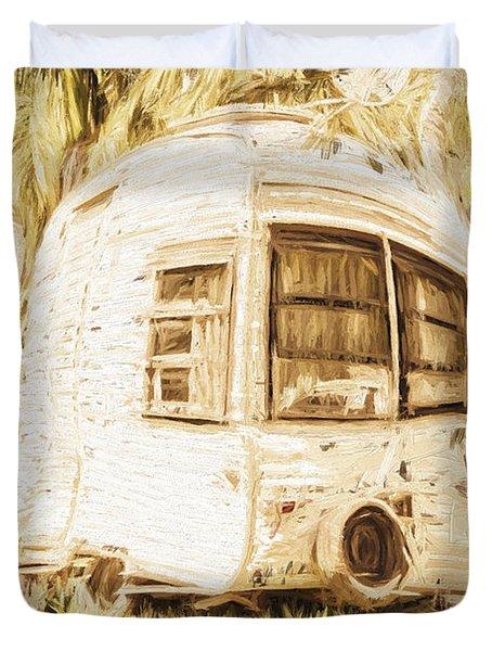 Retrod The Comic Caravan Duvet Cover