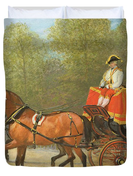 Returning From Her Majestys Drawing Room Duvet Cover by Alfred Corbould