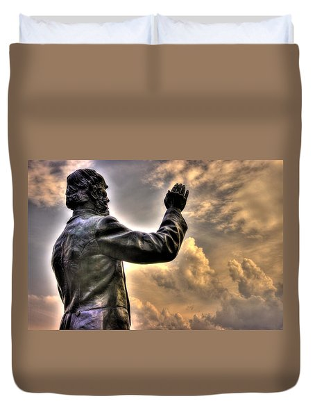 Rev. Father William E. Corby C S C - Blessing The Troops Of The 88th New York Infantry Irish Brigade Duvet Cover