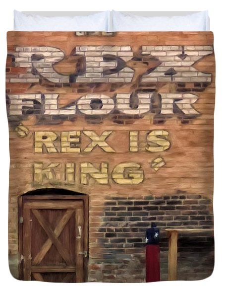 Rex Is King Duvet Cover by Michael Pickett