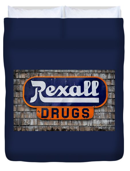 Rexall Drugs Duvet Cover