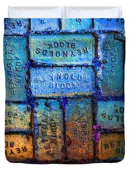Reynolds Blocks - Vintage Art By Sharon Cummings Duvet Cover by Sharon Cummings