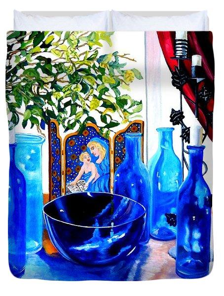 Rhapsody In Blue Duvet Cover by Caroline Street