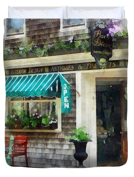 Rhode Island - Antique Shop Newport Ri Duvet Cover