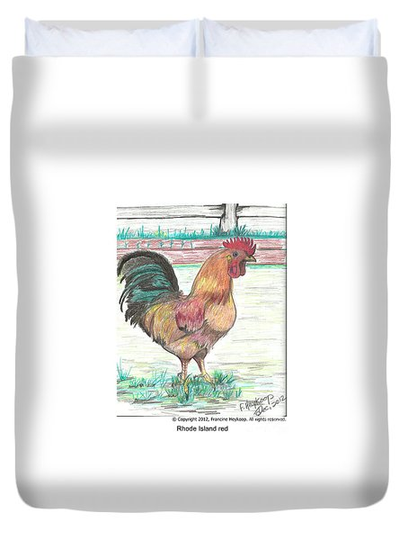 Rhode Island Red Duvet Cover